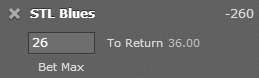 Bet365 American Odds Example 2