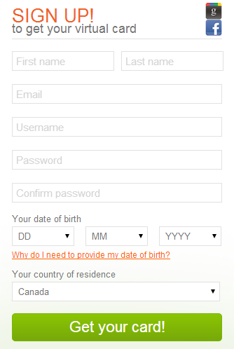 Entropay Registration Form