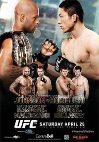 UFC 186 poster