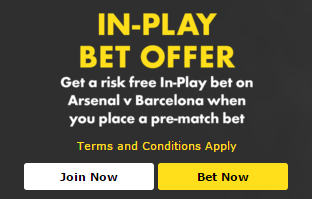 Bet365 In-Play Bet Offer