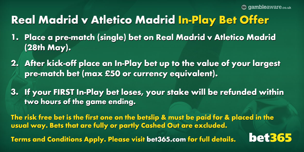 Real vs Atletico Free Bet